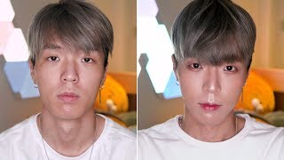 Doing Jun Curry Ahn's Makeup - Edward Avila