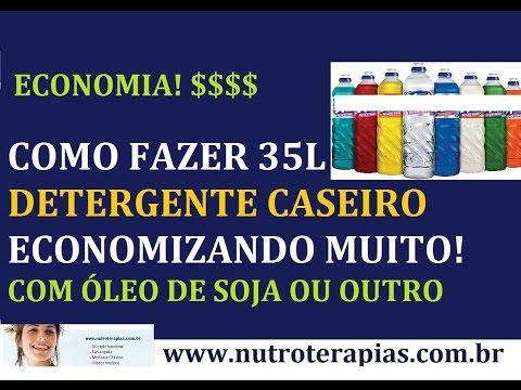 COMO FAZER DETERGENTE CONCENTRADO CASEIRO - SUPER ECONOMIA (R$ 0,25 500ml!)