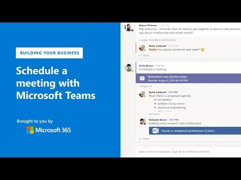 How to schedule a meeting with Microsoft Teams (2018)