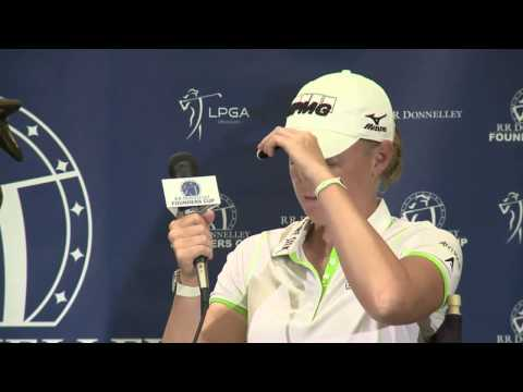2013 RR Donnelley LPGA Founders Cup Winner's Interview with Stacy Lewis