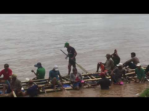 Boat racing drill | a giant ship | Mekong river