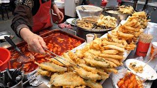 Популярные Tteokbokki на рынке Аньян в Корее! 4 лучших / Korean Street Food