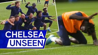 Tammy Abraham's Hilarious Reaction to Losing 🤣 N'Golo Kante Back in Training | Chelsea Unseen