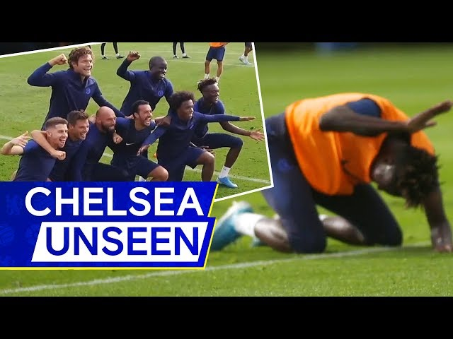 🎥 Tammy Abrahams hilarious reaction to losing🤣 NGolo Kante back in training | Chelsea Unseen