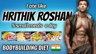 "I Tried "" HRITHIK ROSHAN "" Bodybuilding Diet Plan for a Day 🇮🇳"