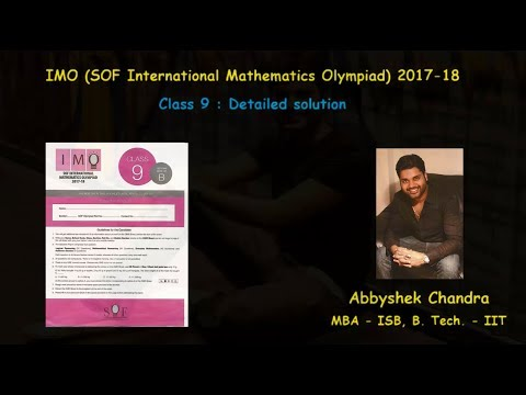 International Mathematics Olympiad (IMO) 2017 Class 9 Solution with Questions (Set B)