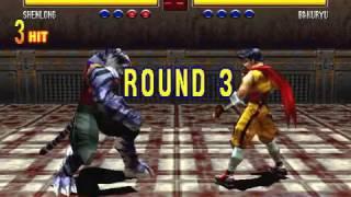 Bloody Roar 2 (PC) - ShenLong vs All Members (Max Difficulty)