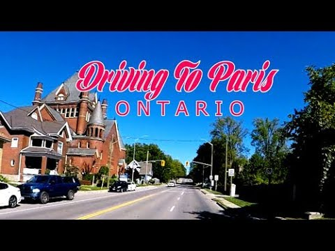 Driving To Paris - Ontario, CANADA