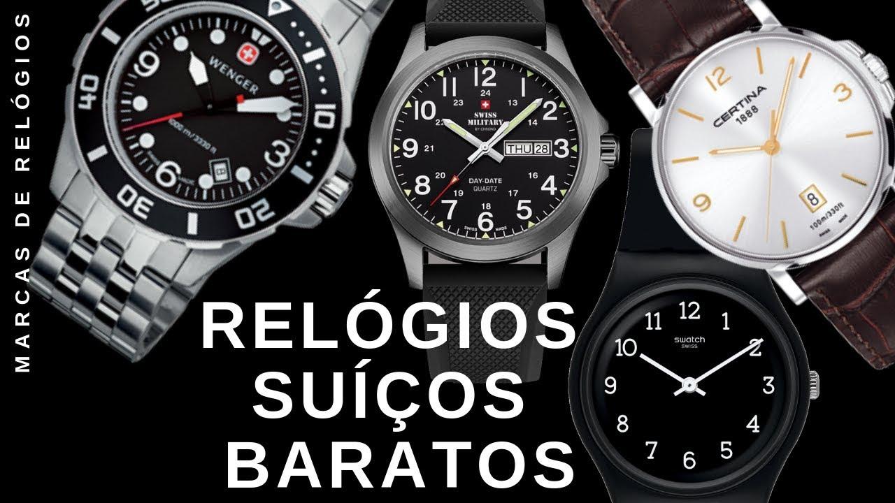 c19cdaac8 Relógios Suíços Baratos - YouTube