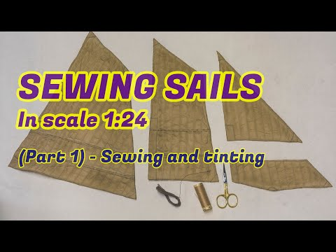 Sewing sails for ship models in scale 1/2''-1ft. - (Part 1) - Изготовление парусов в 1:24 масштабе.