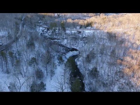 Devils Hopyard State Park by drone