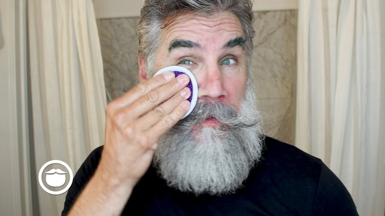 How to Wash Your Face Without Ruining Your Beard - YouTube