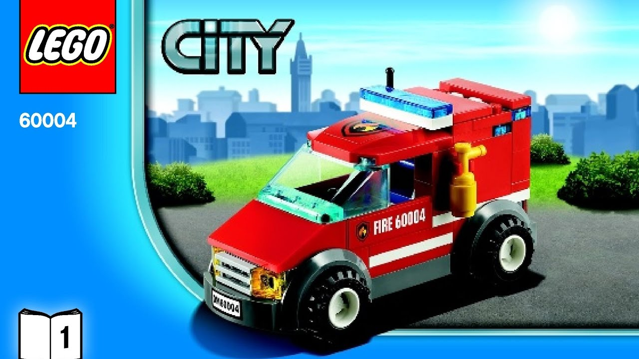 Lego City Fire Station 60004 Instructions Diy Book 1 Youtube