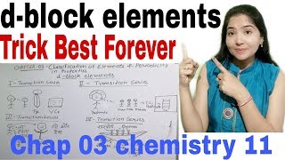 Class11 Chap 03 |Best trick for d-block elements|Best ever trick |Classification of elements..