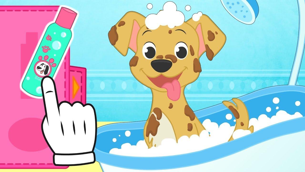 Bebes alex y lily aprende a cuidar a tu mascota ba amos y cuidamos al perro babypets youtube - Como banar a un perro ...