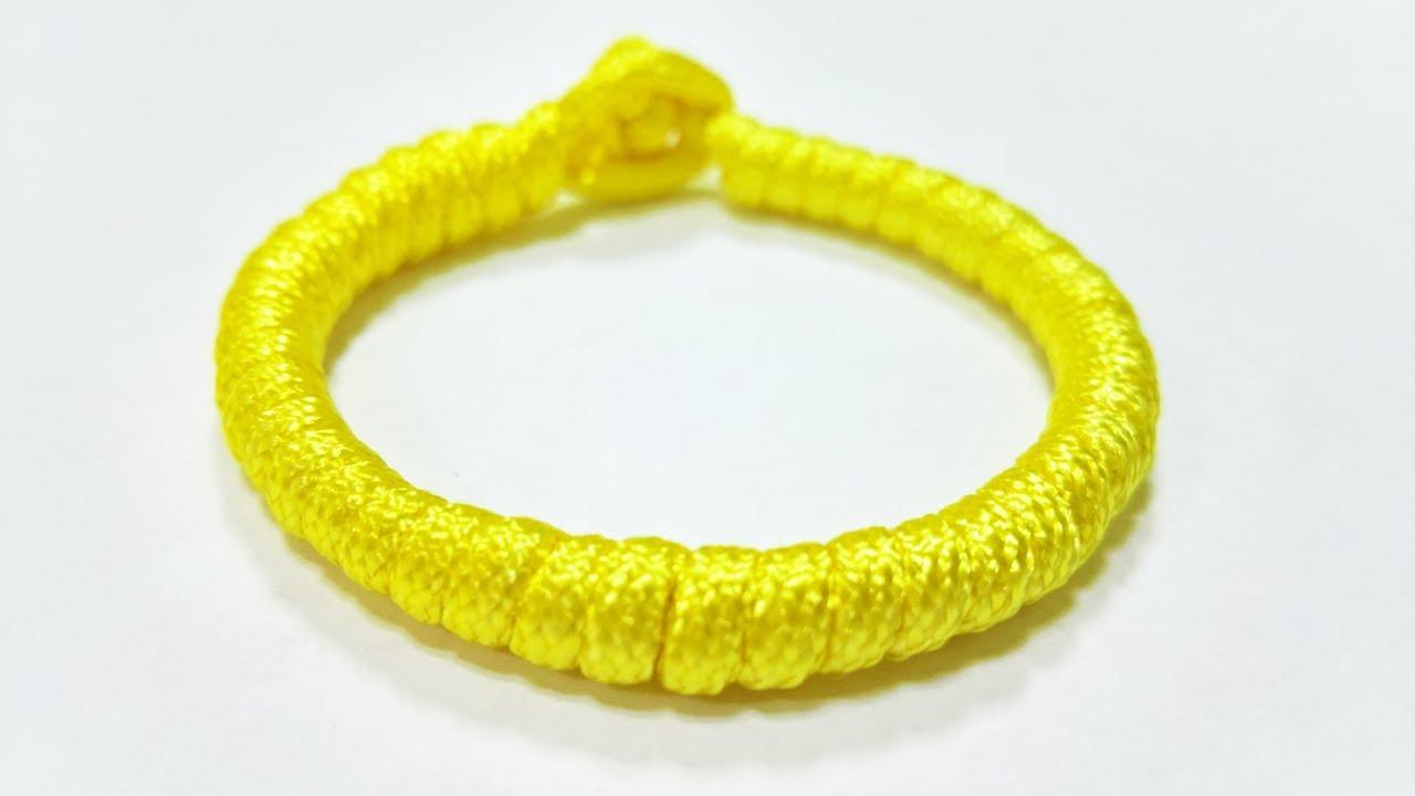 CÁCH TẾT VÒNG ĐEO TAY ĐƠN GIẢN NHẤT, How to Make a Simple Quick Deploy Single Strand Knot – Bracelet