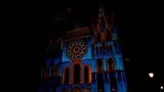 世界遺産 シャルトル大聖堂の光のスペクタクル