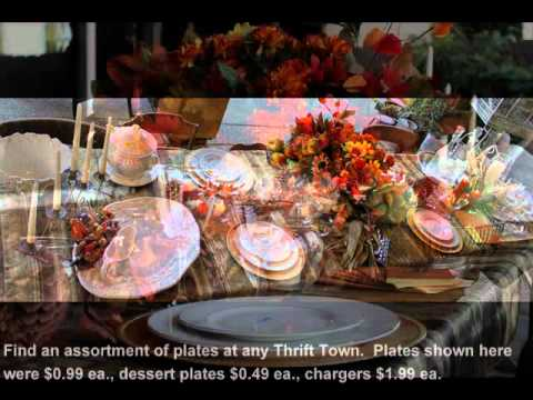 Low Cost, High Style Thanksgiving Decorating Ideas from Thrift Town