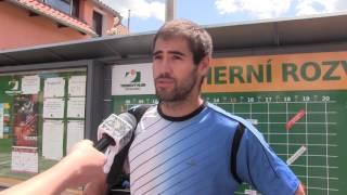 Michal Franěk po výhře v prvním kole na turnaji Futures v Ústí n. O.