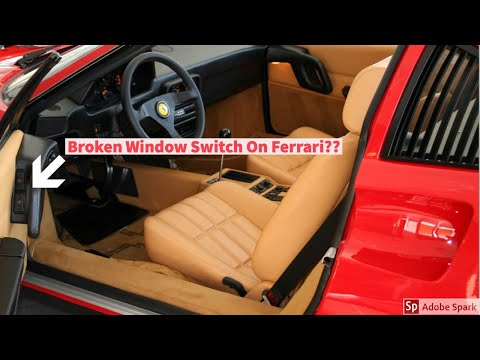 Ferrari 328 Window Switch Restoration and Repair