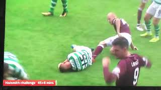 Hearts Naismith being a Dirty Wee Bastard yet Again Against Celtic 11 th August 2018