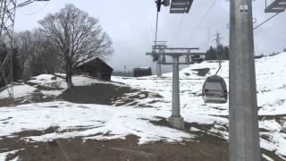 Seilbahn Meiringen Hasliberg Reuti nach Bidmi Bergfahrt Schweiz Gondel Bergbahn