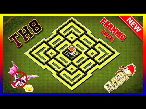 Save Your Loot Town Hall 8 (TH8) Base Farming Clash Of Clans 2019