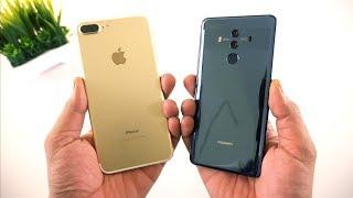 iPhone 7 Plus vs Huawei Mate 10 Pro Speed Test  [Urdu/Hindi]