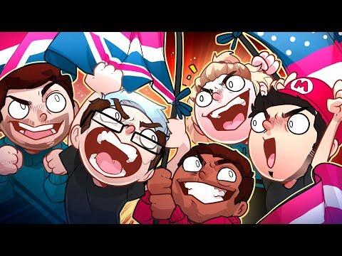 AMERICA VS UK MINI GOLF CHAMPIONSHIP!