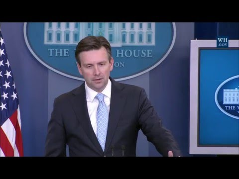 4/18/16: White House Press Briefing