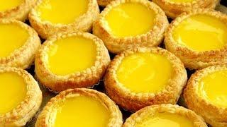 How To Make Chinese Egg Tarts 港式酥皮蛋撻 Flaky Puff Pastry Egg Tarts & Soft Egg Custard Tart Recipe