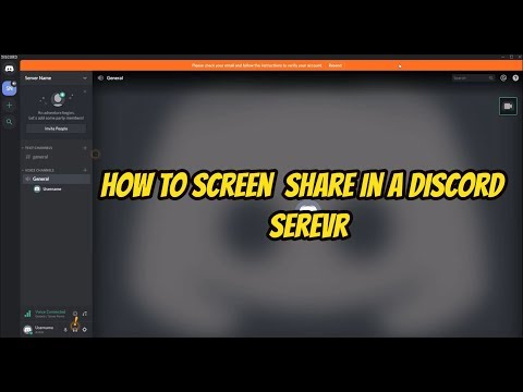 How To Screen Share In A Discord Server February 2020