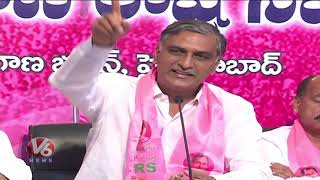 Telangana State Irrigation Minister Harish Rao Fires On Congress Le...