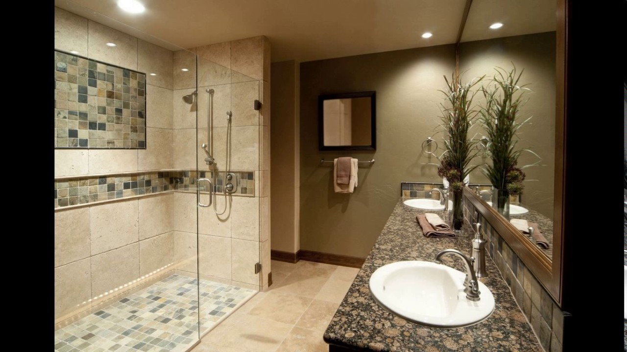 Brown Cream And Accessories Bathroom
