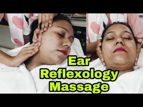 Ear Reflexology Massage by Indian Female Barber  #Deepasmr #Earmassage