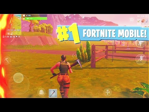 New Fortnite Mobile Gameplay Fortnite Mobile Early Access Youtube