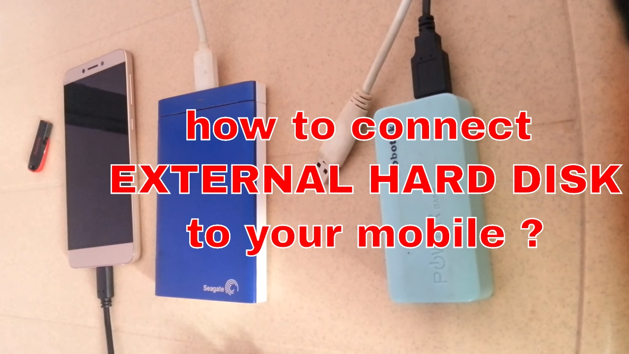 Connecting mobile phone to external hard drive.