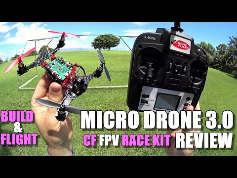Extreme Fliers MICRO DRONE 3.0 CF 5.8ghz FPV RACE EDITION Review - Build & Flight