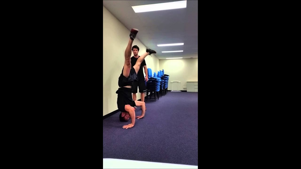 Straddle To Headstand - HangStrong Gymnastics - YouTube