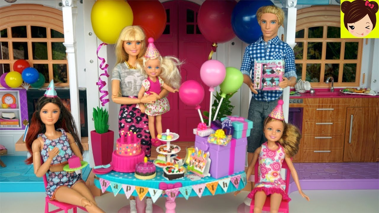Barbie Fiesta De Cumpleaños Sorpresa Para Chelsea Los Juguetes De