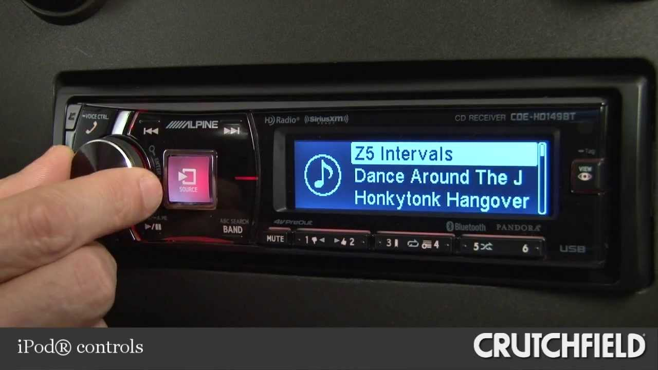 Alpine CDE-HD149BT Car CD Receiver Display and Controls Demo ...