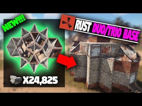 THE BEST Solo/Duo/Trio EXPANDABLE Base Design   Rust Base Building thumbnail