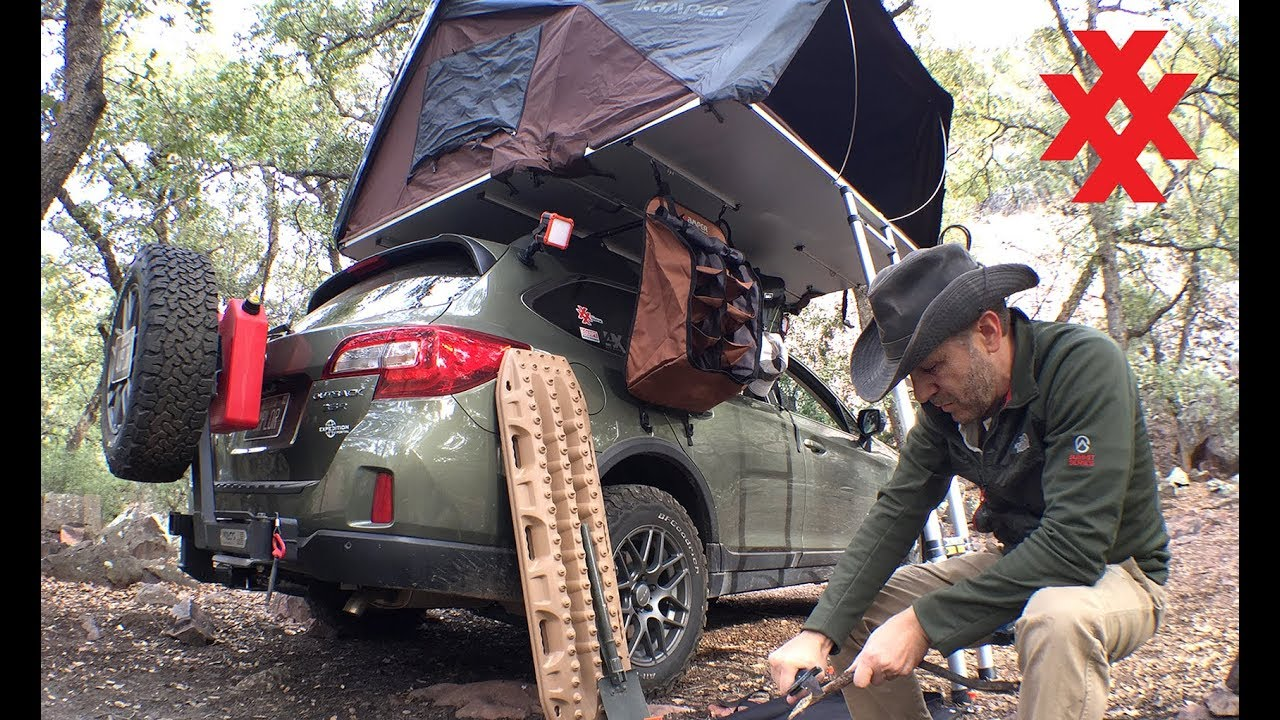 rooftop tent camping sierra ancha mountains subaru outback overland