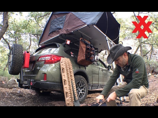 Rooftop Tent Camping Subaru Outback Overland  by 4XPEDITION