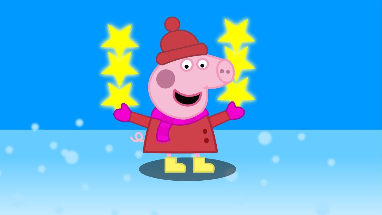 Peppa Pig En Español - Pinta Cuadro De Familia En Navidad - YouTube