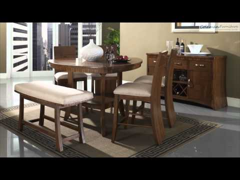 Milan Triangular Counter Height Dining Room Collection From Somerton Furniture