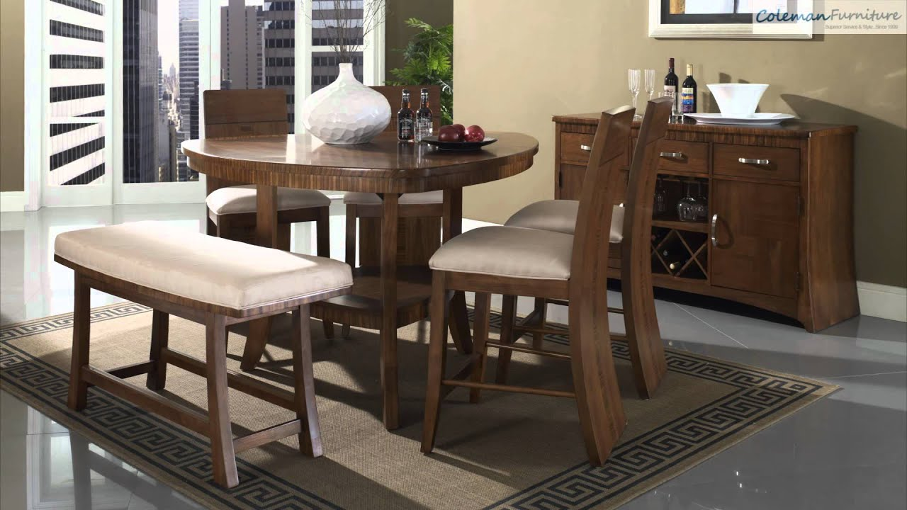 Triangle dining room table - Milan Triangular Counter Height Dining Room Collection From Somerton Furniture