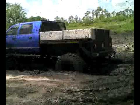 2 1 2 Ton 4x4 Cummins Mega Cab Flatbed Youtube