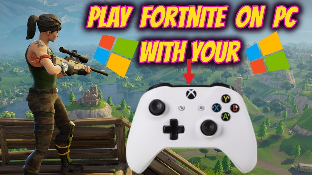 play fortnite on pc with xbox controller - how to play xbox and pc fortnite