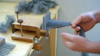 Combing Wool with Benjamin Green Standard Wool Combing Kit